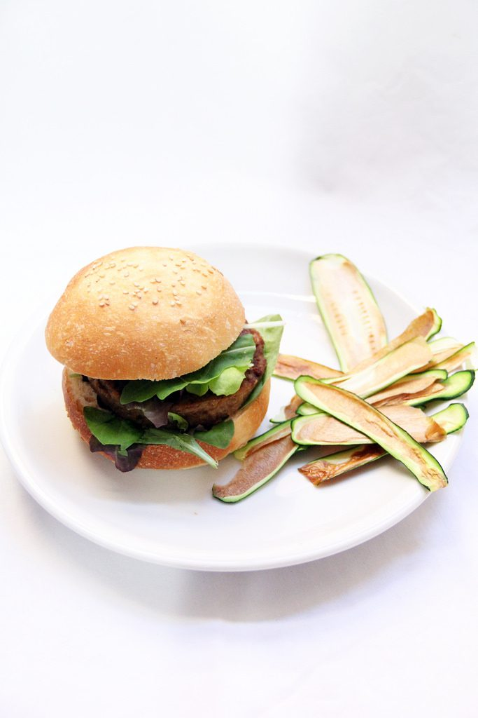 Hamburger e Chips di Verdure