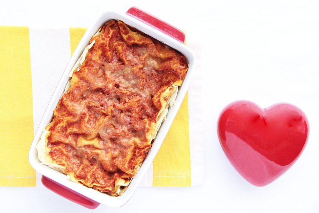 Lasagna con Pane Carasau e cuore