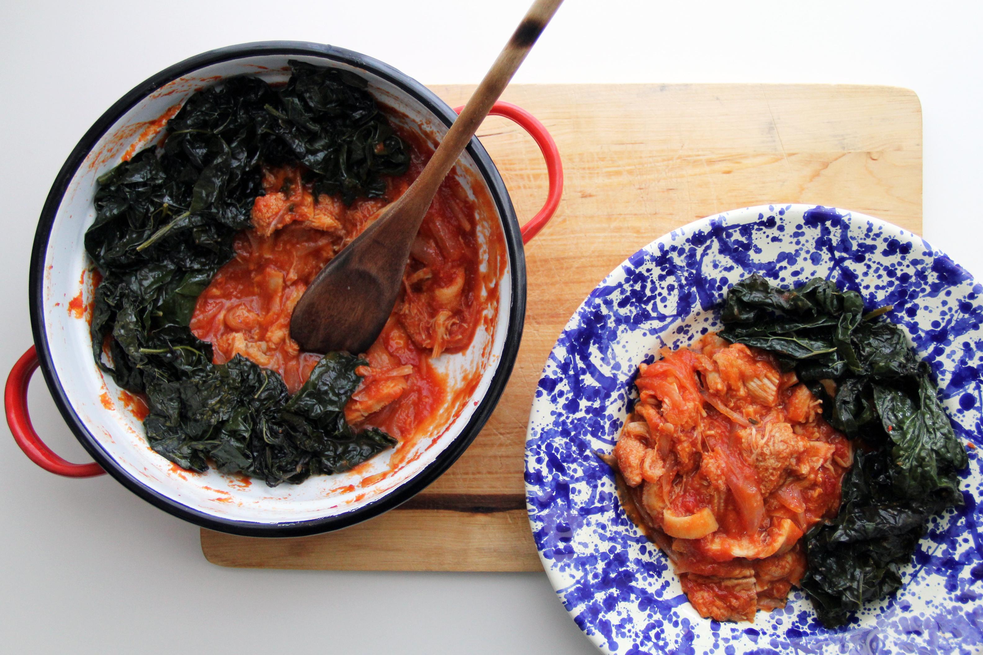 Trippa al pomodoro e piatto di trippa al sugo