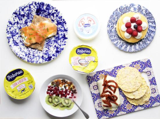 Colazione salata e dolce con prodotti Arborea
